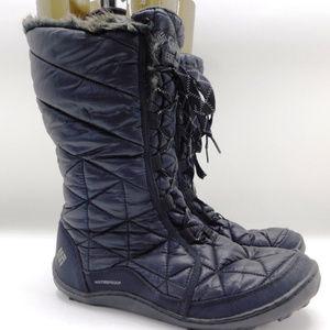 "Columbia ""Powder Summit"" Black Waterproof Boots 10"